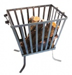 Feuerkorb aus Metall Feuerschale rechteckig Höhe 4 cm, Breite 40 cm, Tiefe 29, 5 cm - Holzkorb