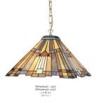 Casa Padrino Tiffany Hängeleuchte Durchmesser 40cm 2-Flammig ModH1 - Leuchte Lampe Deckenleuchte