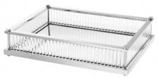 Casa Padrino Luxus Serviertablett Silber 39, 5 x 28, 5 x H. 9 cm - Gastronomie Accessoires