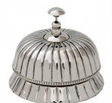 Casa Padrino Luxus Tischglocke, Tischklingen, Hotelklingel Höhe 12 cm, Durchmesser 14 cm - Service Glocke