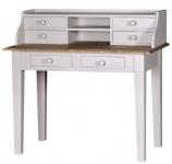 Casa Padrino Landhausstil Schreibtisch mit 6 Schubladen 109 x 60 x H. 102 cm - Luxus Qualität