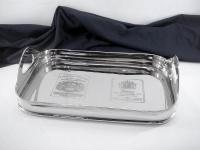 Casa Padrino Luxus Tablett Rechteckig Massiv vernickelt - Luxury Collection - 5 Sterne Gastronomie Einrichtung