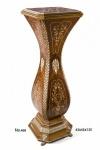 Casa Padrino Barock Säule mit Marmorbesatz 43 x 43 x H. 135 cm - Luxus Qualität