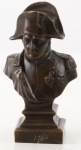Casa Padrino Luxus Bronze Büste Napoleon 7, 7 x 7, 2 x H. 20 cm - Dekofigur - Bronze Skulptur - Bronzefigur