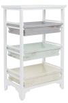 Casa Padrino Landhausstil Regalschrank Weiß / Mehrfarbig 54 x 32 x H. 86 cm - Handgefertigter Shabby Chic Regalschrank mit 3 Fächern