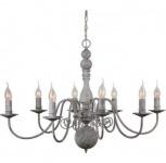 Casa Padrino Barock Decken Kronleuchter Antik Grau Durchmesser 86 x H 60 cm Antik Stil - Möbel Lüster Leuchter Deckenleuchte Hängelampe