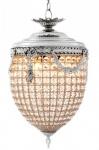 Casa Padrino Luxus Kronleuchter - Luxus Hängeleuchte Nickel Durchmesser 32 x H 65 cm