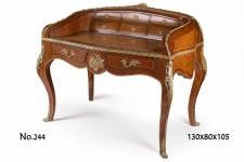 Casa Padrino Barock Schreibtisch / Sekretär 130 x 80 x H. 105 cm - Französischer Stil