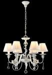Casa Padrino Barock Kristall Decken Kronleuchter Silber 61 x H 51 cm Antik Stil - Möbel Lüster Leuchter Hängeleuchte Hängelampe