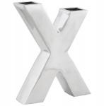 Casa Padrino Designer Vase X Aluminium Poliert
