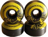 South Central Skateboard Rollen Set Black/Yellow 56mm, 100A (1 Set = 4 Rollen) - Profi Wheels Set Wheels
