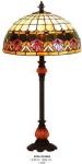 Casa Padrino Tiffany Tischleuchte mit Barock Lampenfuß - Glas Mosaik Tisch Leuchte Lampe Mod X567