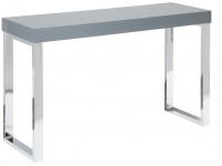 Casa Padrino Designer Laptoptisch Grau Hochglanz 120 x 40 x H.75 - Schreibtisch - Sekretär Konsole - Computertisch