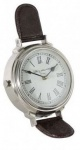 Casa Padrino Designer Luxus Uhr Norte Dame 19 cm x 19 cm x H. 28 cm Nickel - Tischuhr