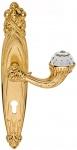 Casa Padrino Luxus Jugendstil Türgriff mit Platte und Swarovski Kristallglas Gold 15, 6 x H. 32, 5 cm - Hotel Accessoires