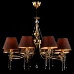 Casa Padrino Barock Kristall Decken Kronleuchter Messing 78 x H 56, 5 cm Antik Stil - Möbel Lüster Leuchter Hängeleuchte Hängelampe
