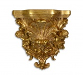 Casa Padrino Barock Wandkonsole Antik Gold 16, 5 x 34, 9 x H.36, 3 - Hotel Möbel