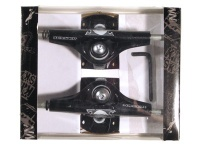 Krown Skateboard Achsen Set 5.0 Skull schwarz (2 Achsen)