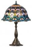 Casa Padrino Luxus Tiffany Tischlampe Mehrfarbig Ø 42 x H. 61 cm - Hotel & Restaurant Deko