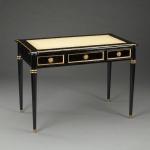 Casa Padrino Luxus Barock Sekretär Empire Schwarz Writing Desk Schreibtisch