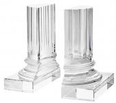 Casa Padrino Kristallglas Buchstützen 2er Set 17 x 8, 5 x H. 21 cm - Designer Hotel Deko