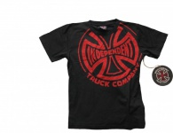 Independent Truck Company Skateboard T-Shirt Black/Red