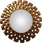 Casa Padrino Barock Wandspiegel Rund Antik Gold Durchmesser ca 78 cm - Antik Look Spiegel