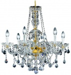 Casa Padrino Barock Kristall Kronleuchter Gold Ø 62 x H. 61 cm - Leuchten & Lüster im Barockstil
