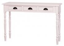 Casa Padrino Landhausstil Konsole Weiß 120 x 35 x H. 79 cm - Möbel im Landhausstil