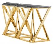 Casa Padrino Luxus Konsole 5er Set Gold 143 x 41 x H. 80, 5 cm - Designer Möbel