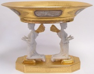 Casa Padrino Luxus Barock Porzellan Schale Engel - Antik Stil Jugendstil