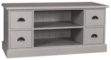 Casa Padrino Landhausstil Sideboard Grau 129 x 50 x H. 60 cm - Landhausstil Fernsehschrank