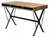 Casa Padrino Designer Schreibtisch mit schwarz pulverbeschichteten Beinen 120 x 60 x H. 77 cm - Designer Büromöbel