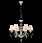 Casa Padrino Barock Decken Kristall Kronleuchter Weiß Gold 63 x H 57 cm Antik Stil - Möbel Lüster Leuchter Hängeleuchte Hängelampe