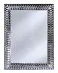 Casa Padrino Luxus Designer Wandspiegel Silber 106 x H. 140 cm - Hotel Möbel & Accessoires