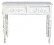Casa Padrino Landhausstil Schreibtisch mit 2 Schubladen Antik Weiß 96 x 45 x H. 79 cm - Handgefertigte Shabby Chic Möbel