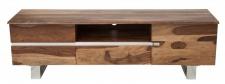 Casa Padrino Designer Fernsehschrank Natur B.160cm x H.50cm x T.45cm - Sideboard - Kommode - Handgefertigt Massivholz!