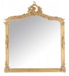 Casa Padrino Barock Wandspiegel Antik Gold - Italienischer Antik Stil - 115 x 100 cm - Edel & Prunkvoll