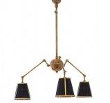 Casa Padrino Luxus Barock Decken Kronleuchter Messing Antik Stil / Schwarz - Massive Ausführung - Möbel Lüster Leuchter Hängeleuchte Hängelampe