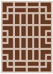 Wunderschöner Luxus Teppich aus 100% Neuseeland-Wolle, Braun/Creme, Samtweich 170 x 240 cm - Hochwertige Qualität