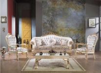 Casa Padrino Barock Neoklassik Sofa Set - 3er Sofa, 2 Sessel und Couchtisch - creme/weiss/gold - Luxus Kollektion aus Italien