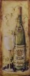 Casa Padrino Deko Zinn Schild / Blechschild Riesling Wein Mehrfarbig 20 x H. 50 cm - Vintage Retro Metallschild