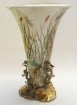 Casa Padrino Porzellan Messing Vase H. 46 cm - Limited Edition