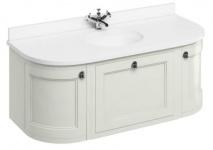 Casa Padrino Luxus Hänge-Waschschrank / Waschtisch mit Marmorplatte Schublade und 2 Türen