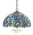Handgefertigte Tiffany Hängeleuchte von Casa Padrino, Durchmesser 36 cm, 2-Flammig - Leuchte Lampe - wunderschöne Tiffany Deckenleuchte