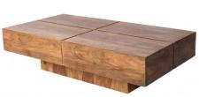 Casa Padrino Designer Massivholz Couchtisch Natur 110 x 30 cm - Salon Wohnzimmer Tisch