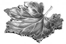 Casa Padrino Designer Messing Serviertablett Ahornblatt Antik Silber - Luxus Kollektion
