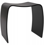 Casa Padrino Designer Hocker Holz Schwarz Wave - Lounge Möbel