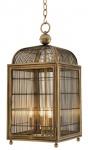 Casa Padrino Designer Hängeleuchte / Laterne Antik Messing 38 x 38 x H. 81 cm - Luxus Hängelampe