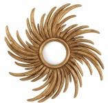 Casa Padrino Luxus Wohnzimmer Konvexspiegel Antik Gold Ø 100 cm - Luxus Wandspiegel